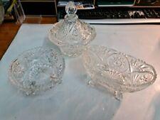 4 kleine Bleikristall ? Dosen Töpfe  Kristall Glas Schale Vase