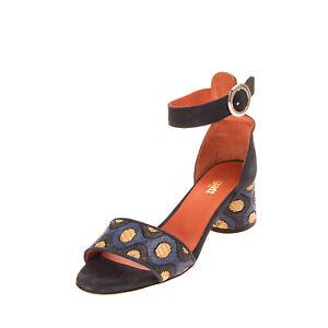 BAGATT Leather Ankle Strap Sandals EU 39 UK 6 US 9 Woven Geometric Pattern Heel