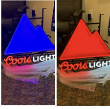 Brand New In Box , Multi Color Changing Coors Light Led Lights Mountains Sign