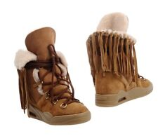 NEW SERAFINI Wedge Trainers boots Fringe leather fur marant model 37 Italy 4 UK