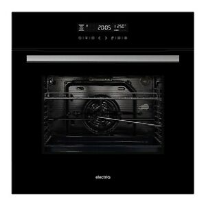electriQ 65L 9 Function Black Electric Fan Touch Control Oven - Supplied with a