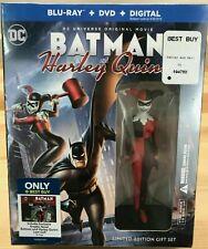 Batman and Harley Quinn Limited Edition Blu-ray/DVD + Graphic Novel & Figure Set