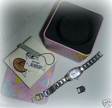 FOSSIL WATCH PINK PEARL WATCH FACE W/DATE ESTATE NEEDS BATTERY EXTENDERS INCLD