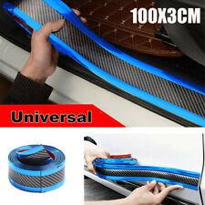 Car Carbon Fiber Blue Edge Guard Strip Door Sill Protector&Accessories 3CM*1M