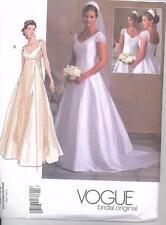 Vogue Patterns 2788 Bridal Gown Misses Size 12 14 16