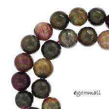 "16"" Multi Tourmaline Round Beads 8.8- 9mm #84080"