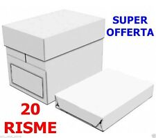 20 RISME Copy Carta ULTRABIANC Fotocopie A4 Laser Getto inchiostro Fax Fotocopie