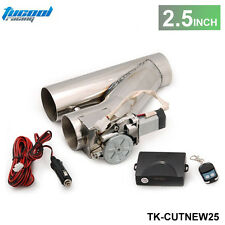 """Universal 2.5"""" EXHAUST CATBACK TURBO ELECTRIC E CUTOUT Y PIPE WITH REMOTE"""