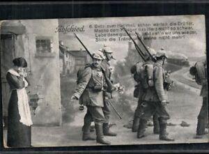 Carte Postale Pk Sw 1. Wk Courrier Militaire Abschiedsszene Soldat Pris 1915