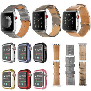 For Apple Watch Series 5 4 3 2 1 Genuine Leather For iWatch Band Strap 38/44mm