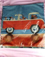 "New 17"" Cushion Cover Dalmatian Doberman Dogs Red Truck Meerkat Chickens Penguin"
