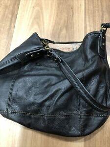 RRP $295  THE SAK MEDIUM SOFT BLACK LEATHER SHOULDER BAG/SLOUCH BAG IN EUC