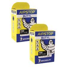 2 x Michelin Road Bike Airstop inner tube 40mm Presta Valve 700 x 25 / 32 tube