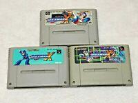 LOT Rockman X X2 X3 Megaman Nintendo SFC Super Famicom Japan SNES NTSC-J