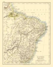 Eastern brésil. bahia minas gerais pernambuco marabhao. johnston 1920 old map