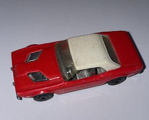 Matchbox Superfast #1 Dodge Challenger Red & White Roof Die-Cast Car Vintage