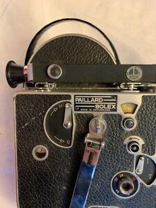 Vintage Bolex Paillard H 16 Movie Camera With Pan Cinor 30L lens