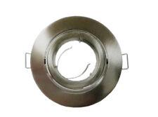 10 x Nickel Recessed Downlight Holder Round Adjustable Frame for GU10 MR16 Bulb