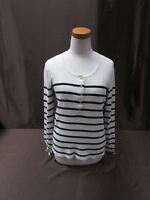 J. Crew women's size large L white long sleeve shirt 5 button front