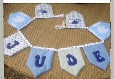 Bunting Personalised Padded Blue Elephant Letter Banner Boys Room Nursery Flags