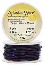 Purple Artistic Craft Wire 12 Feet 3.65 Meters Jewelry Beading Crafts 18 Gauge