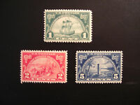 United States Scott  614 - 616, the Huguenot Walloon Tercentenary Set from 1924