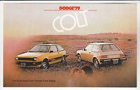 1979 DODGE COLT HATCHBACK Ad Card POSTCARD Unused New Vintage Old Stock