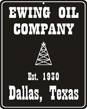 Dallas TV show nostalgic Ewing Oil metal replica sign