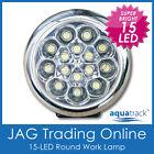 12v 15-led White Round Work Lamp -for Caravancarboatdaytime Running Lightdrl
