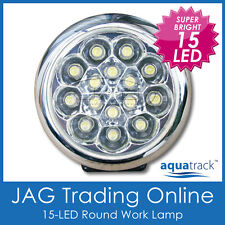 12V 15-LED WHITE ROUND WORK LAMP -For Caravan/Car/Boat/Daytime Running Light/DRL