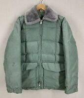 Vintage 40s/50s Comfy Goose Down Puffer Parka Jacket Sz Medium USA