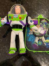 "Disney Original Talking Buzz Lightyear Toy Story 12"" Action Figure Backpack Euc"