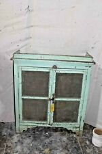 Vintage Medicine Wall Cabinet Green, Rustic Wall Bathroom Showcase
