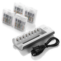 16x AAA 1100mah battery And Charger for AA AAA NI-MH NI-CD Rechargeable Battery