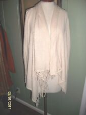 CULLEN IVORY WRAP CARDIGAN 100% CASHMERE O/S FREE SIZE LARGE