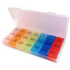 Pill Case 7 Day Medication Storage Case, AM PM Organiser Dispenser Boxes