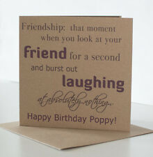 Personalised Birthday Card for a Special Friend or Best Friend. Friendship Card.