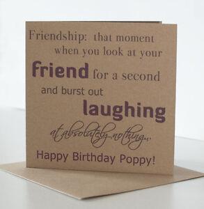 Personalised Birthday Card Female Friend Special Friend Best Friend Her Women