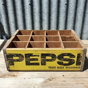 PEPSI COLA 1950's Australian Bottle Crate