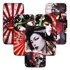 Geisha Samurai Japanese Flip Phone Case Cover Wallet - Fits Iphone 5 6 7 8 X 11
