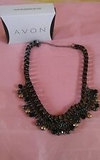 "Brand New Metal Mix Chain & Beads Statement Necklace By Avon 18"" & 3"" Extender"