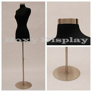 HIGH QUALITY! Size 2-4 Female Mannequin Dress Form+Metal Base #FWPB-4+BS-04