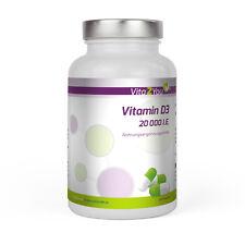 Vita2You Vitamin D3 - 20.000 IE - 240 Kapseln - hochdosiert