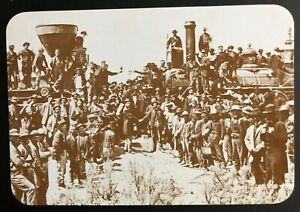 GOLDEN SPIKE PROMONTORY UTAH UNION PACIFIC & CENTRAL   NEW REAL PICTURE POSTCARD