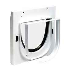 Staywell 919 and Tunnel Extension 4 Way Locking Cat Flap for Walls Doors & Glass Cat Flap 3 Tunnels 60mm