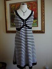 RGL New York Women's Black White Sleeveless Dress Sundress Size L NEVER WORN!