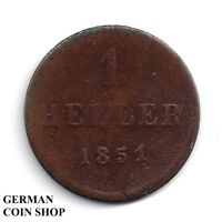 1 Heller 1851 - Frankfurt am Main