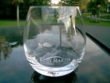 REMY MARTIN FINE CHAMPAGNE COGNAC ROUNDED GLASS  LOW ON GLASS FROSTED LETTERING