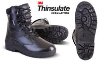 Mens Army Military Combat Full All Leather Army Work Cadet Boot Black Sizes 3-13