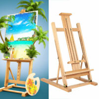 Folding Wooden Easel Table/Floor Adjustable Display Stand Artist Studio Painting